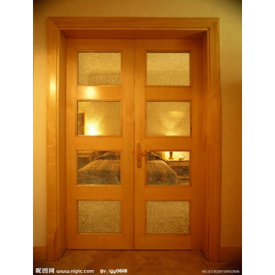 1007暖白浮雕三条筋室内钢木门免漆防火室内门生态门定制