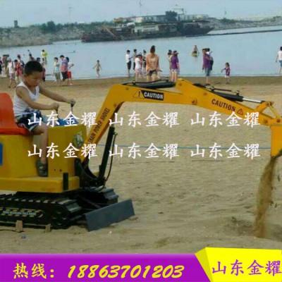 儿童游乐设备儿童挖掘机小型钩机 电动推土机 儿童冰雪游乐设备