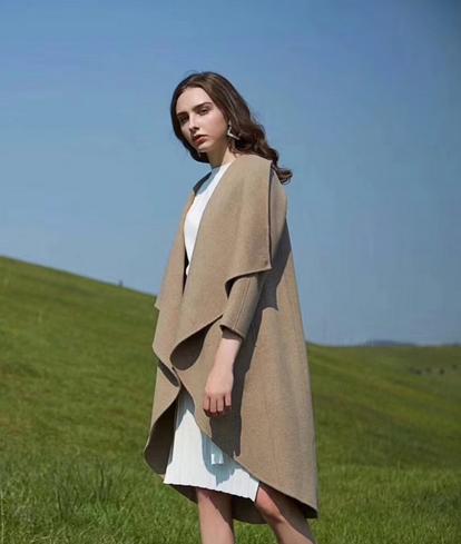 2018年秋冬季女装新款LMERRY 朗美睿女式毛呢外套