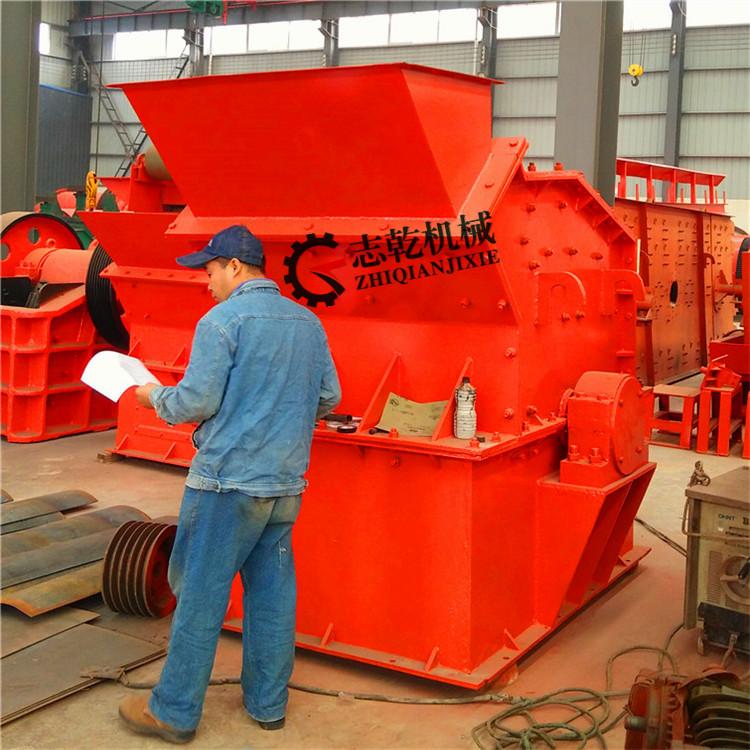 新型制砂机 煤矸石细碎机 志乾鹅卵石破碎机制砂生产线