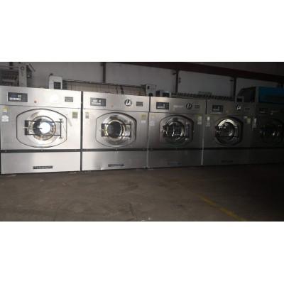 佳木斯出售二手海狮大型洗脱机水洗厂设备二手6棍布草烫平机
