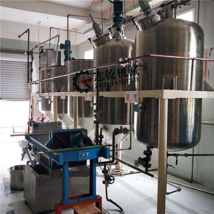精炼油设备 小型食用油精炼设备脱色脱臭设备 油脂精炼成套设备厂