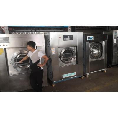 东平二手50/100公斤航星百强水洗机二手双棍电加热烫平机