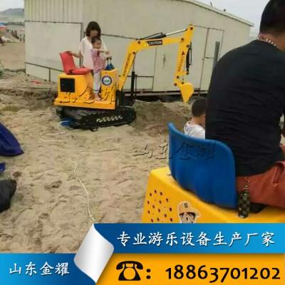 锻炼孩子动手操作能力 亲子儿童挖掘机 电动挖掘机设备