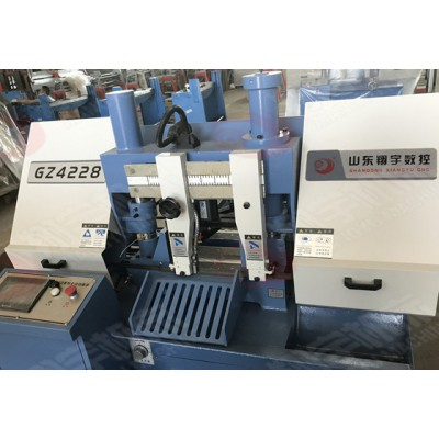 翔宇半数控带锯床GZ4228精密切割金属带锯床生产厂家