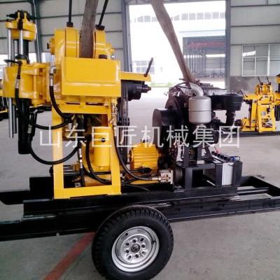 轮式地质钻机便携式全液压岩心钻机移动方便XYX-200