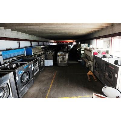 潍坊二手洗衣房设备转让型号洗衣机烘干机折叠机二手水洗厂设备