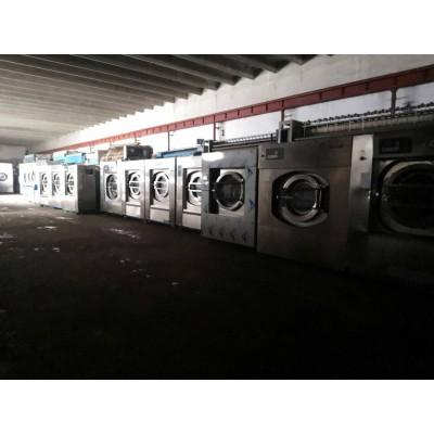 洛阳大型洗衣房二手全套设备天津百强二手折叠机转让