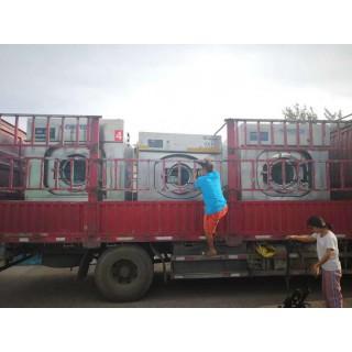 赤峰出售3.3米海狮二手高速折叠机海狮三辊烫平机