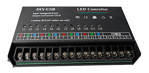 12路单色RGB时间控制器上海南京宁波杭州厂家批发