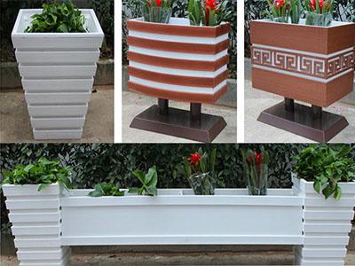 焦作木塑花箱,焦作道路隔离带花箱,木塑花箱厂家