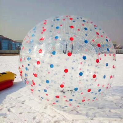 户外加厚耐寒雪地悠波球 充气悠波球新型四季游乐设备