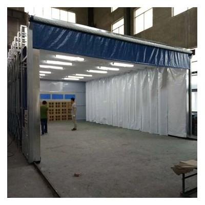 专业加工定制各种尺寸的伸缩移动喷漆房