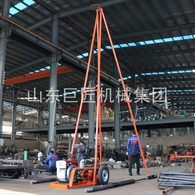华夏巨匠30钻机 砂金矿勘探设备 轻便工程勘察钻机