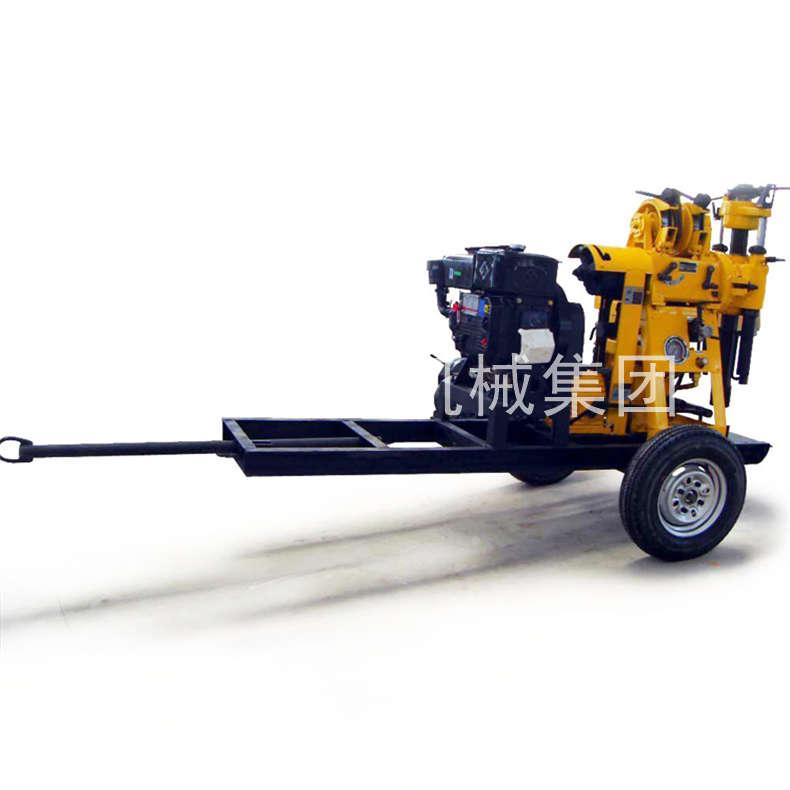 130型轮式液压打井机 山东巨匠家用深水井钻机 搬移方便