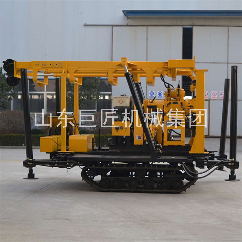 130米履带式水井钻机 山东巨匠省时省力型百米挖井机