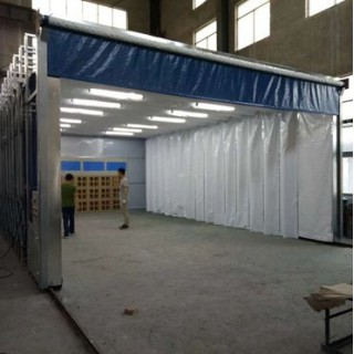 大型移动伸缩喷漆房结构原理和特点