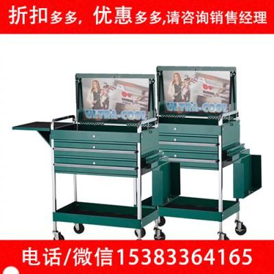 多功能超炫双抽屉工具车柜零件收纳盒手推工具车工具柜五金工具