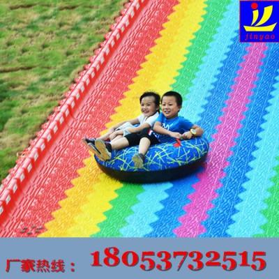 游艺设施景区生态园吸引人气的彩虹滑道