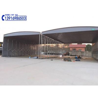 苏州吴江区带轮子的移动伸缩雨棚(图)吴江鸿禧彩条大蓬厂家