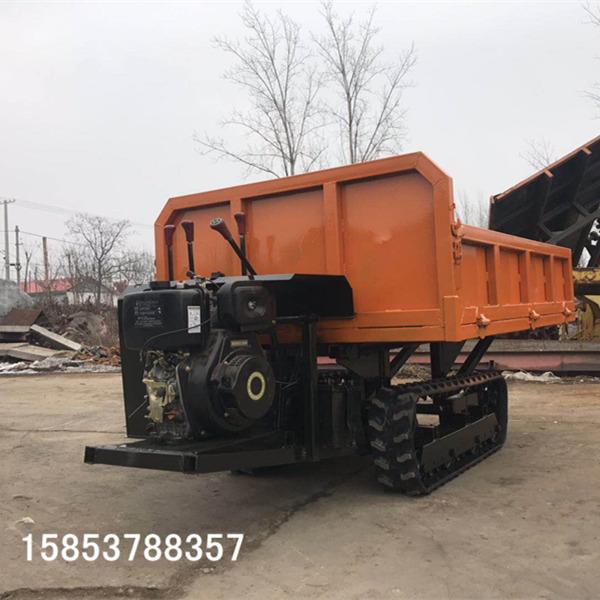履带式工程运输机多功能柴油翻斗车的简单操作