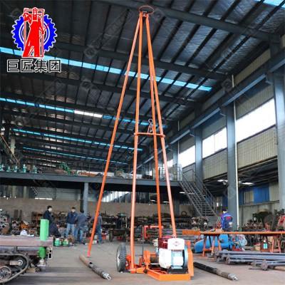 冲击式地质勘探钻机山东巨匠30型 沙土取样设备便携式