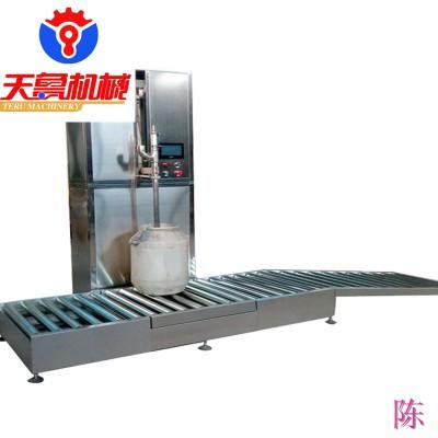 石家庄电子称重式灌装机 椰果酱包装机 大桶酱油醋灌装机