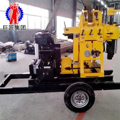 拖车式液压打井机 柴油液压打水井钻机 农村民用200米钻井机