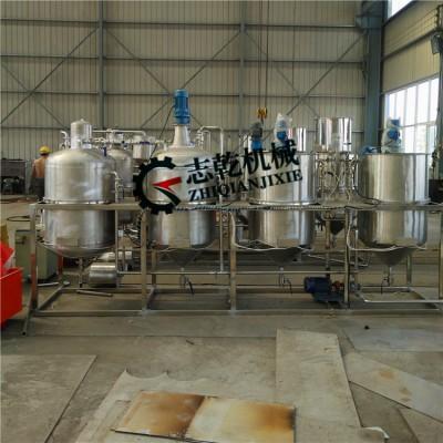 葵花籽油精炼设备 志乾亚麻油精炼机 紫苏油精炼设备