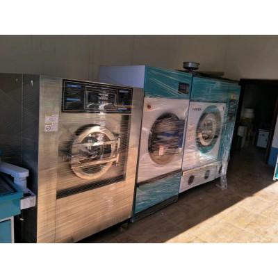 低价处理全自动水洗机100公斤多台整套二手消毒毛巾设备