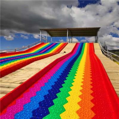 七彩森罗万象 沃克彩虹滑道 网红七彩滑道 彩虹滑梯场地