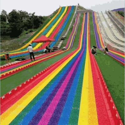 沃克七彩滑道 带你找回春天的感觉 网红滑道游乐项目