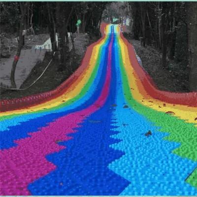 建设网红打卡地 沃克七彩滑道 网红彩虹滑道 大型游乐设备