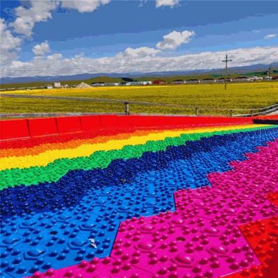 报复式消费项目 沃克七彩滑道 吸引的网红彩虹滑道