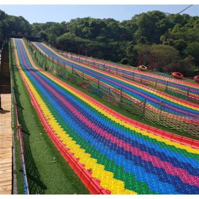 生态农庄游乐彩虹滑道 度假山庄游乐设备七彩滑道