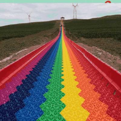 优选服务 沃克彩虹滑道 大型户外游乐设备 网红滑道生产厂家