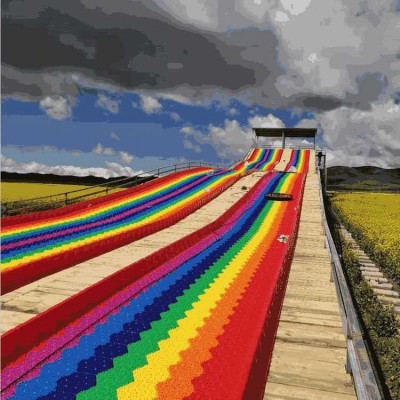 性价比高设备 沃克彩虹滑道 网红七彩滑道 免费设计规划
