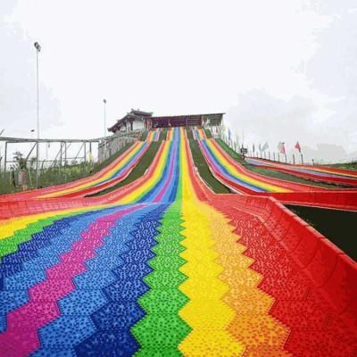 景区网红流行 四季沃克七彩滑道 彩虹滑道生产厂家