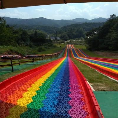 游乐场儿童项目 七彩滑梯 农庄户外儿童乐园网红滑梯