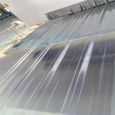 蓝色雨棚采光板透明瓦