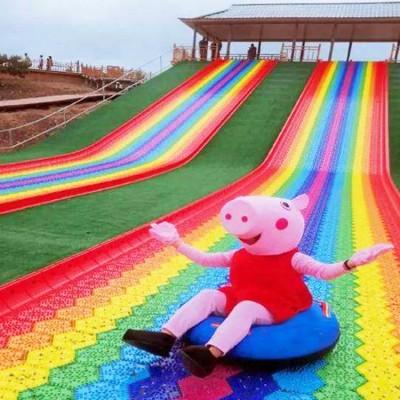 起伏跌宕 大波浪滑梯 彩虹滑道厂家 生态农庄游乐项目