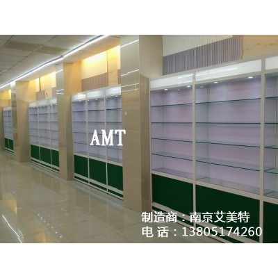 玻璃展柜安装、药房柜台安装、南京货架安装