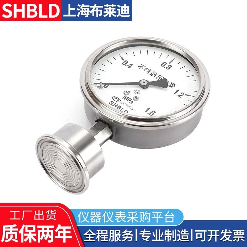 表盘100全不锈钢耐震1Mpa法兰标准隔膜压力表