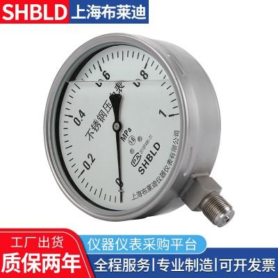 布莱迪Y-153BF不锈钢耐高温压力表