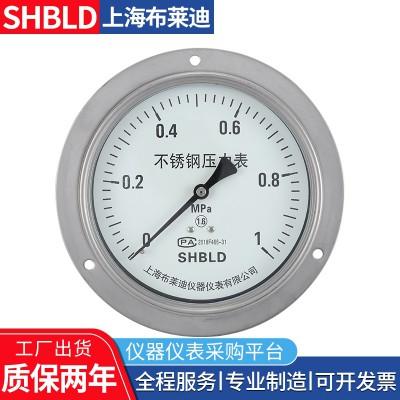 布莱迪YPF-150B-Z不锈钢耐震膜片压力表