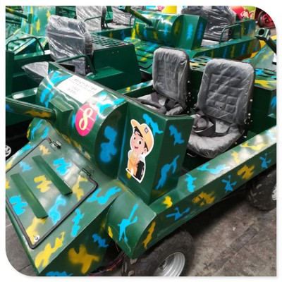 大型景区游乐项目 新款电动儿童坦克车 沙滩越野坦克车