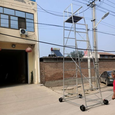 可定制尺寸铝合金维修梯车 铁路专用检测梯车接触网工具
