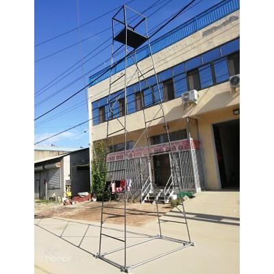 可定制 钢管铁路梯车 电气化铁路检修钢制梯车
