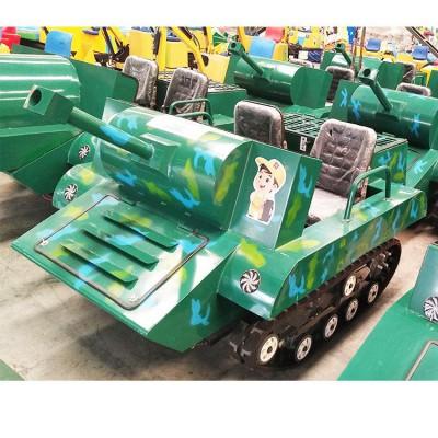 游乐坦克车 加厚工业履带 全地形双人坦克设备