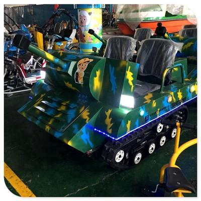 新款电动儿童坦克车 大型景区游乐项目 沙滩越野坦克车